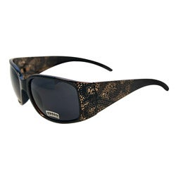 Women's Black Topaz Paisley Fashion Sunglasses