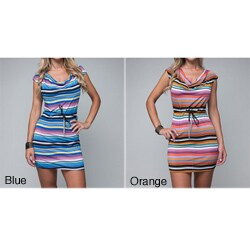 Stanzino Women's Striped Chain Belted Dress