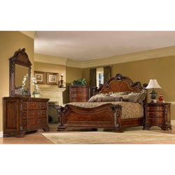 Queen-size 4-piece Wood Estate Bedroom Set