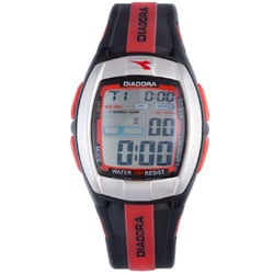 Diadora Men's Grey Dial Rubber Band Watch