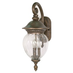 Balun 3 Light Arm Down Platinum Gold With Clear Melon Seed Glass Wall Sconce