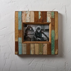 Stripped Wood Photo Frame (India)