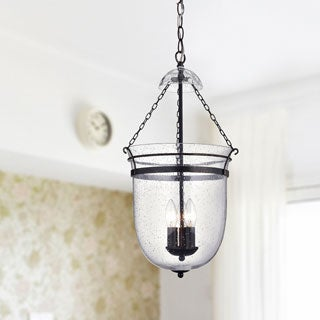 Antique Copper Finished Bubble Glass Lantern Chandelier