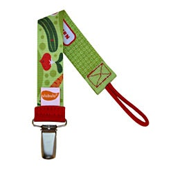Personalized Pacifier Clip in Veggie Patch