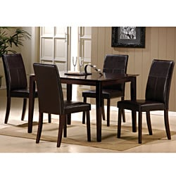 Jaspel Dark Wenge Finish Side Chair (Set of 2)