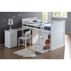 Wyatt White Finish Twin Loft Bed