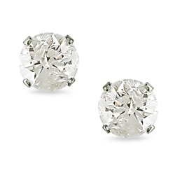 Miadora  14k Gold Men's 1ct TDW Diamond Stud Earrings (J-K, I2-I3)