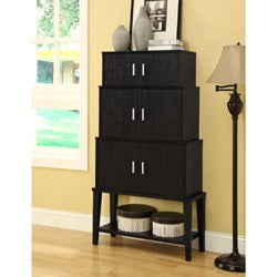 Cappuccino 55-inch Stacking Style Storage Cabinet