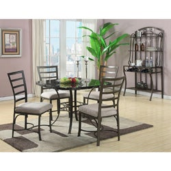 Daisy 5 Piece Black Faux Marble Top Dining Set