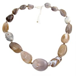 Botswana Agate Bead 20-inch Necklace