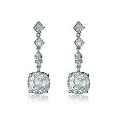Collette Z Sterling Silver and Cubic Zirconia Drop Earrings