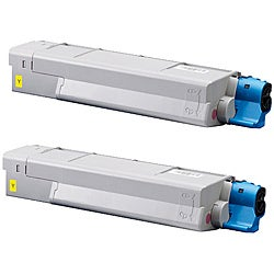 Okidata 5500 Compatible Yellow Toner Cartridge (Pack of 2)