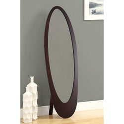 Cappuccino Contemporary Oval Cheval Mirror