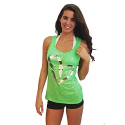 Popular Sports Junior's Neon Green Cut-out Tank