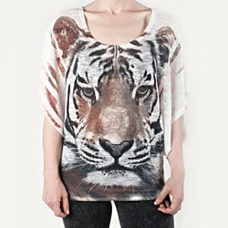 Tabeez Women&#39;s Rhinestone Tiger Sweater