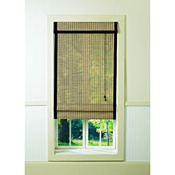 Bamboo Natural/ Black Roman Shade (60 x 64)