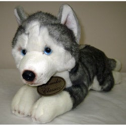 Russ Berrie Yomiko 17-inch Collectible Husky Plush Dog