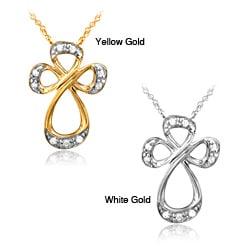 Bridal Symphony 10k Gold Diamond Accent Cross Pendant