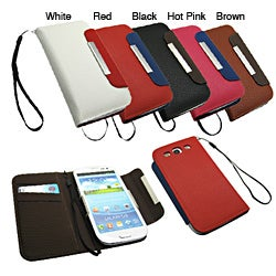 Premium Samsung Galaxy S3 PU Leather Wallet/ Card Holder