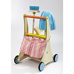 Wonderworld Toys Wonder Fully-stocked Cleaning Cart with Storage Pouch