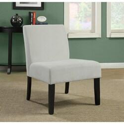 Beige Diamond Velvet Accent Chair