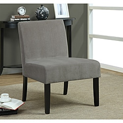 Taupe Swirl Velvet Accent Chair