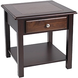 Nassau Walnut Espresso End Table