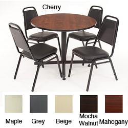 Regency Seating 36-inch Round Table with 4 Chairs