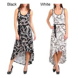 Stanzino Women's Abstract Hi-lo Tank Dress