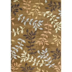 Alliyah Handmade Tufted Inca Gold New Zealand Blend Wool Rug (8' x 10')
