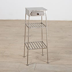 Shimie Iron One-Drawer Side Table (India)