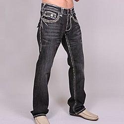 Lagna Beach Men's 'Salt Creek' Black Wash Jeans