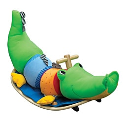 Wonderworld Toys Colorful Rocking Crocodile with Soft Plush Seat