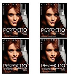 Clairol Perfect 10 5R Medium Auburn Hair Color (Pack of 4)