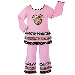 Ann Loren Girl's 2-piece Pink Magical Minnie Outfit