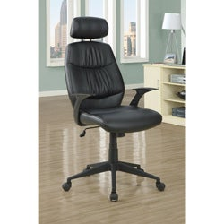 Black 'Retro Style' Leather-look Office Chair