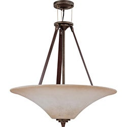 Viceroy 4-light Golden Umber With Burnt Sienna Glass Energy Star Pendant