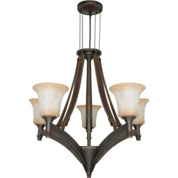 Viceroy 5-light Golden Umber With Burnt Sienna Glass Energy Star Chandelier