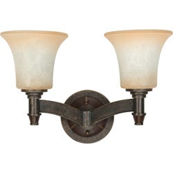 Viceroy 2-light Golden Umber With Burnt Sienna Glass Energy Star Vanity