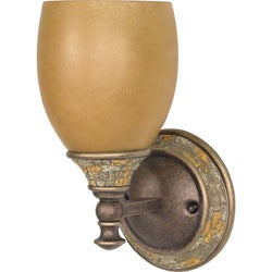 Rockport Tuscano Sepia Glass Dorado Bronze 1-light Wall Sconce