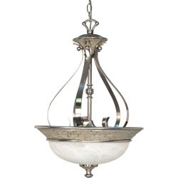 Rockport Milano Brushed Nickel Alabaster Glass 3-light Pendant Fixture