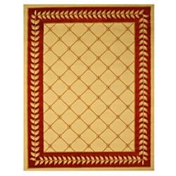 Pat Latice Border Ivory Rug (3'3 x 4'6)