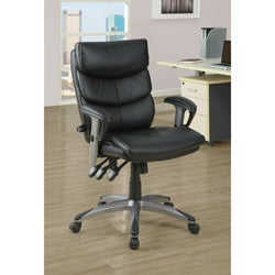 Black Leather-Look 'Deluxe Style' Office Chair