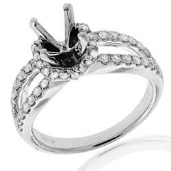 14k White Gold 1/2ct TDW Diamond Semi-mount Engagement Ring (G-H, SI1/SI2)