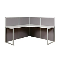 The Box Office L-Shaped Workstation w/4 Panels