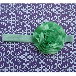 Mint Satin Flower Headband