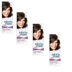 UK LovingCare Nice 'n Easy #77 Medium Ash Brown Hair Color (Pack of 4)