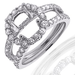 14k White Gold 1ct TDW Diamond Semi-mount Engagement Ring (G-H, SI1/SI2)