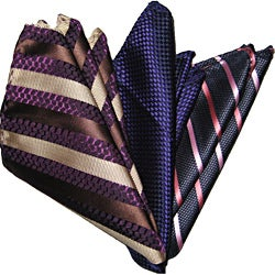 Dmitry Men's Italian Silk Pocket Squares (Set of 3)