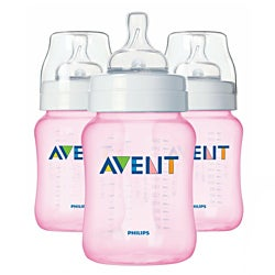 Philips AVENT Pink BPA-Free 9-ounce Bottles (Pack of 3)
